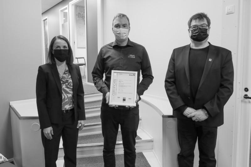 Vastaanotimme ISO 27001 -tietoturvasertifikaatin